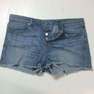 Mossimo Womens Button Fly High Rise Shorts Sz 14